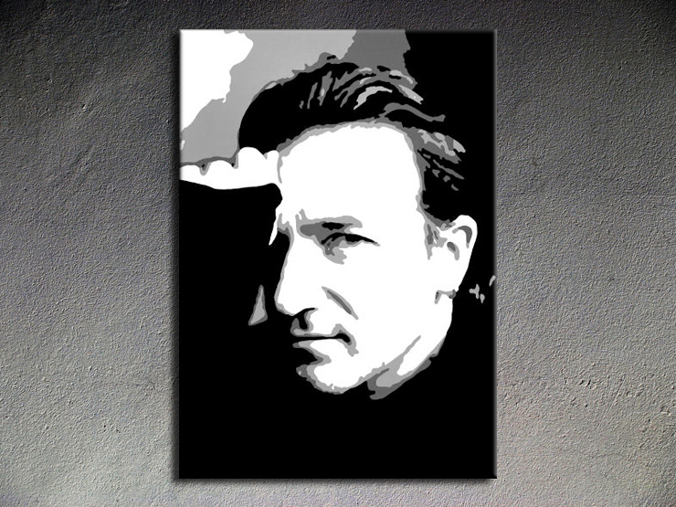 Popart schilderij Bono U2