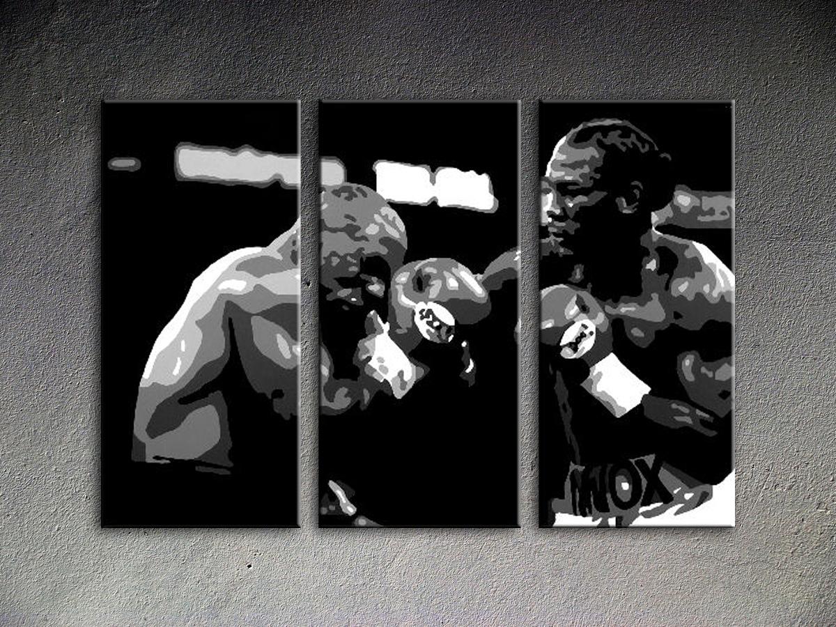 Popart schilderij Tyson vs. Lewis