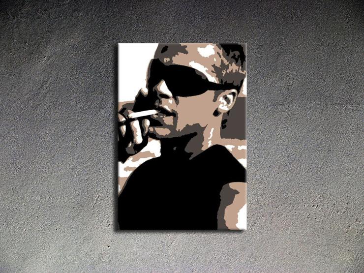 Popart schilderij Brad Pitt