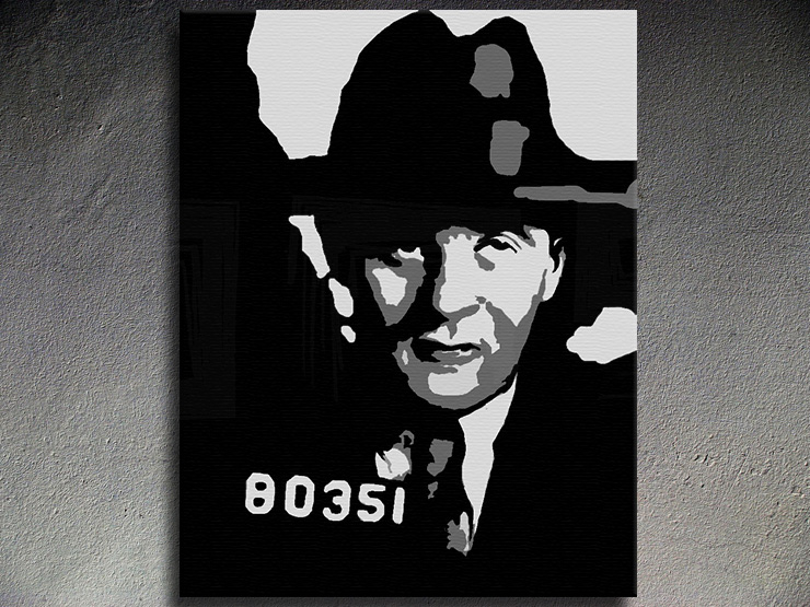 Popart schilderij Bugsy Siegel