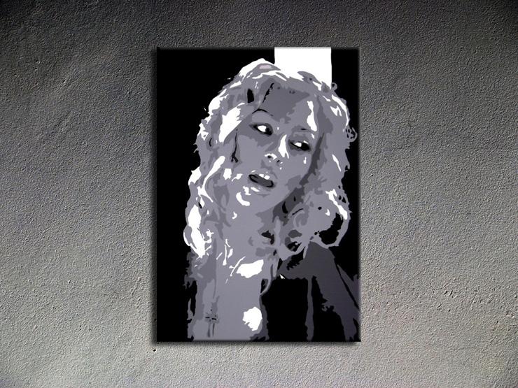 Popart schilderij Christina Aguilera 2