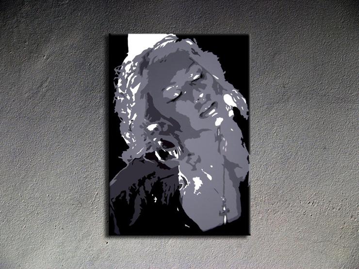 Popart schilderij Christina Aguilera 1