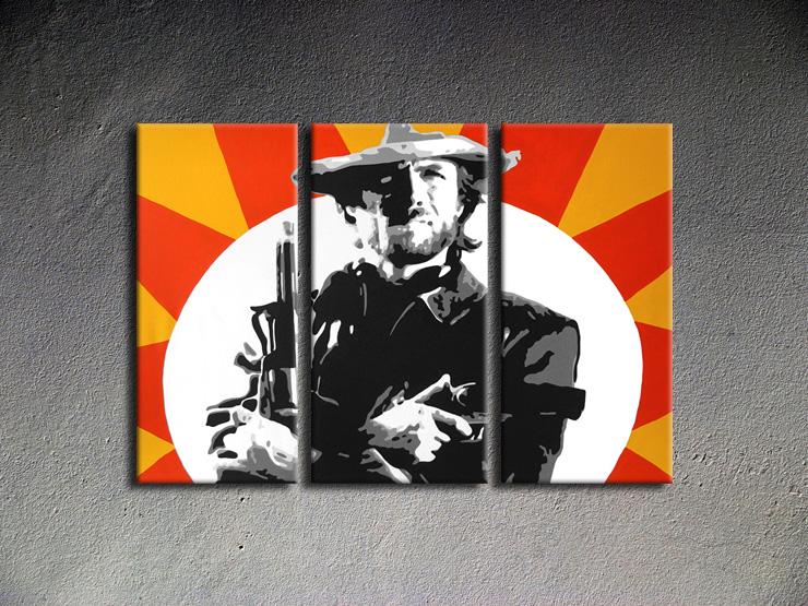 Popart schilderij Clint Eastwood 2