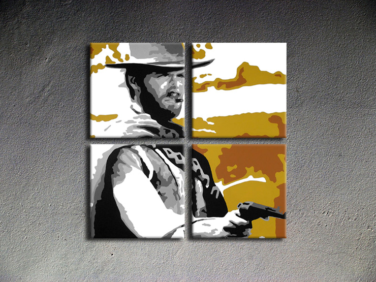 Popart schilderij Clint Eastwood 3