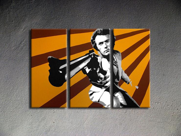 Popart schilderij Clint Eastwood 1
