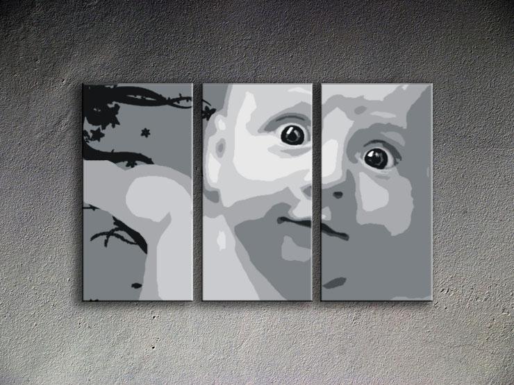 Popart schilderij Child