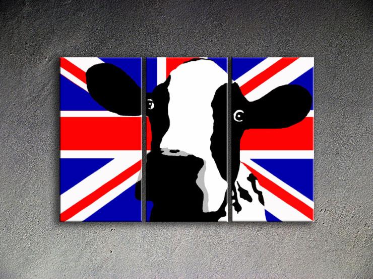 Popart schilderij Cow 2