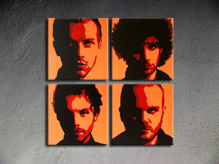 Popart schilderij Coldplay 2