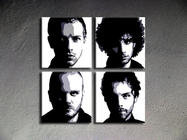 Popart schilderij Coldplay 1