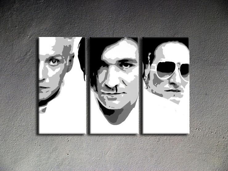 Popart schilderij Die Ärzte 3 delig