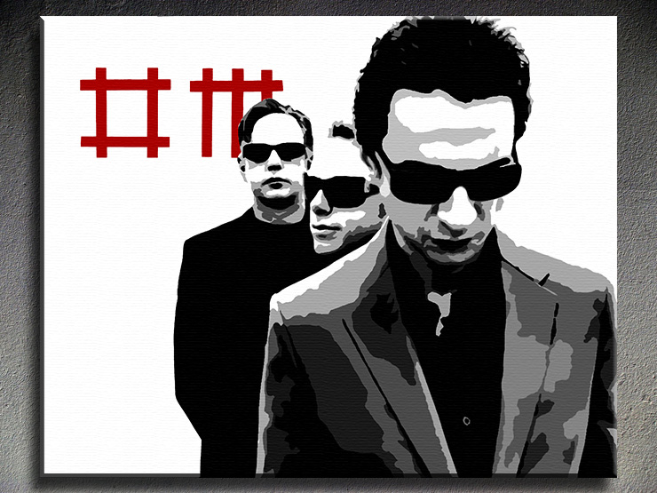 Popart schilderij Depeche Mode 2