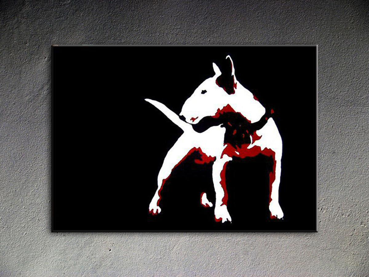 Popart schilderij Dog