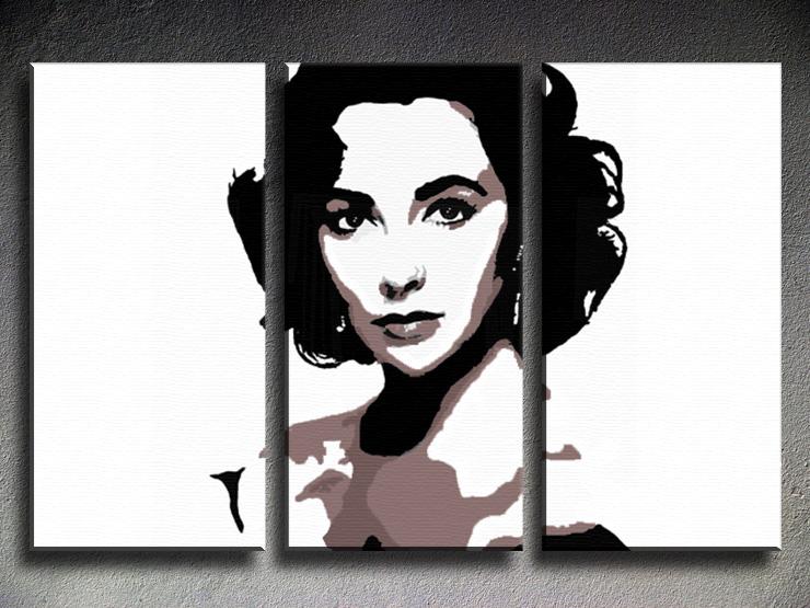 Popart schilderij Elizabeth Taylor 2