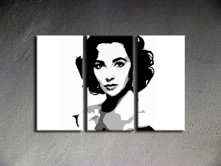 Popart schilderij Elizabeth Taylor 1