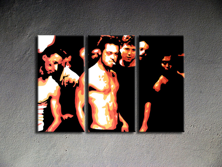 Popart schilderij Fight Club 2