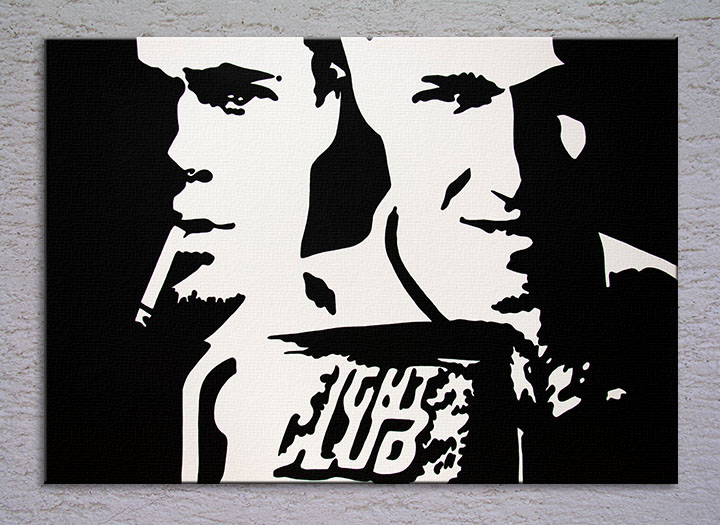 Popart schilderij Fight Club
