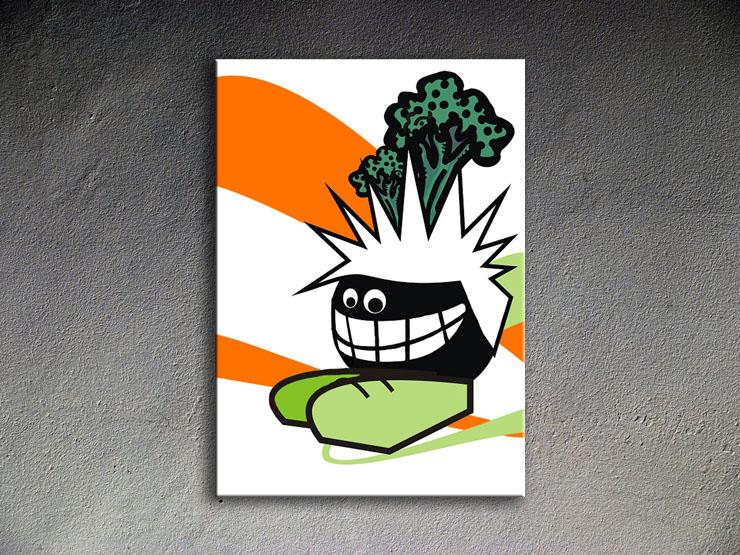 Popart schilderij Funny