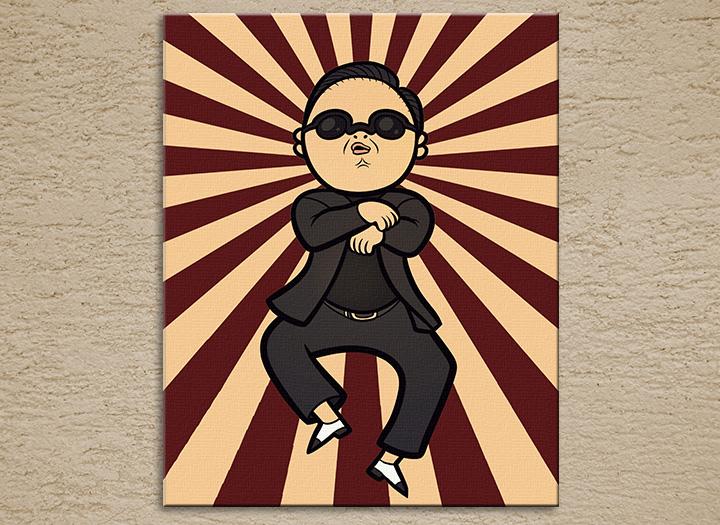 Popart schilderij Gangman Style