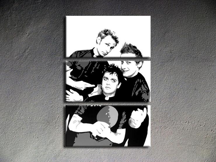 Popart schilderij Green Day