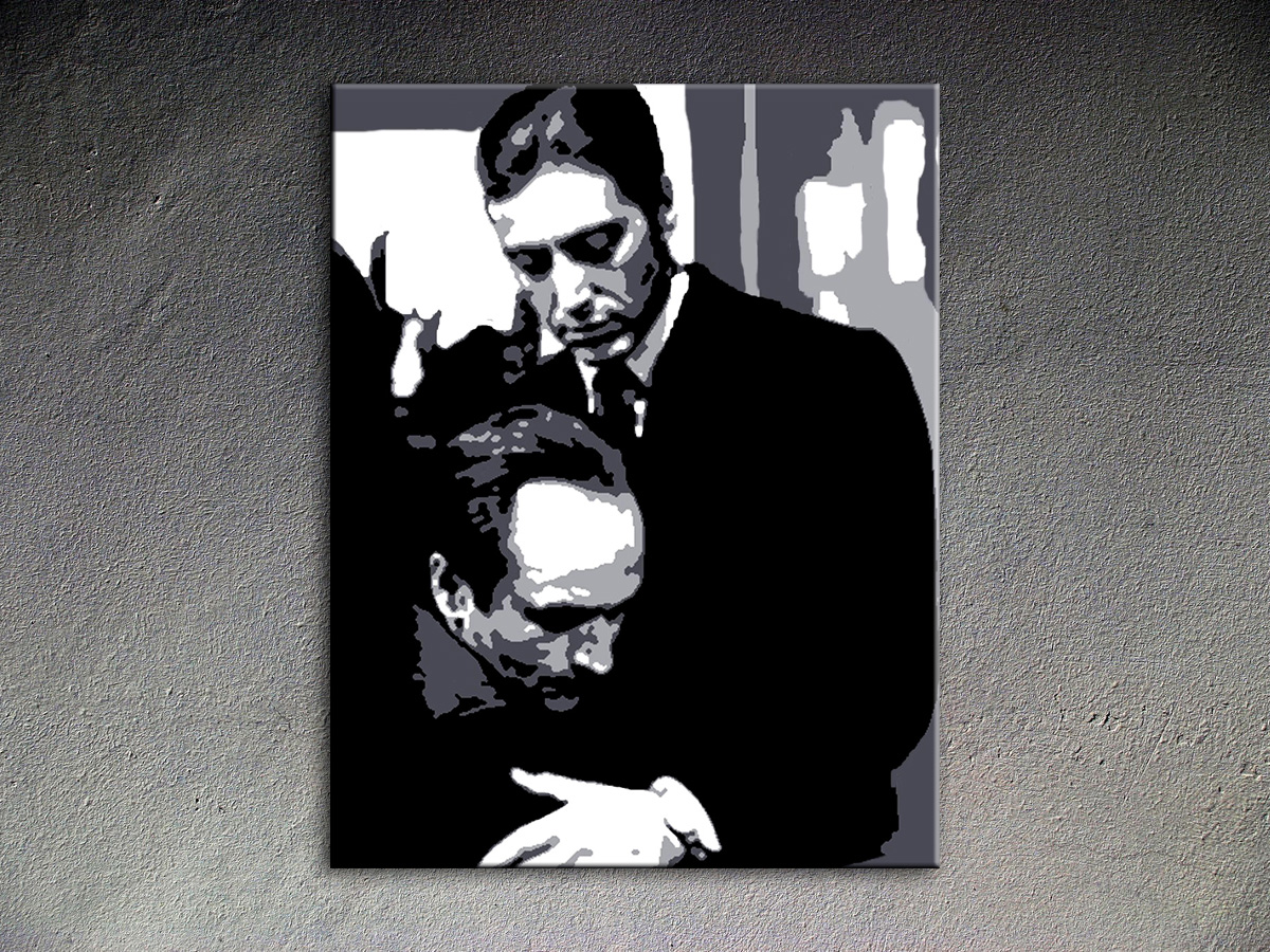 Popart schilderij Godfather 1 delig