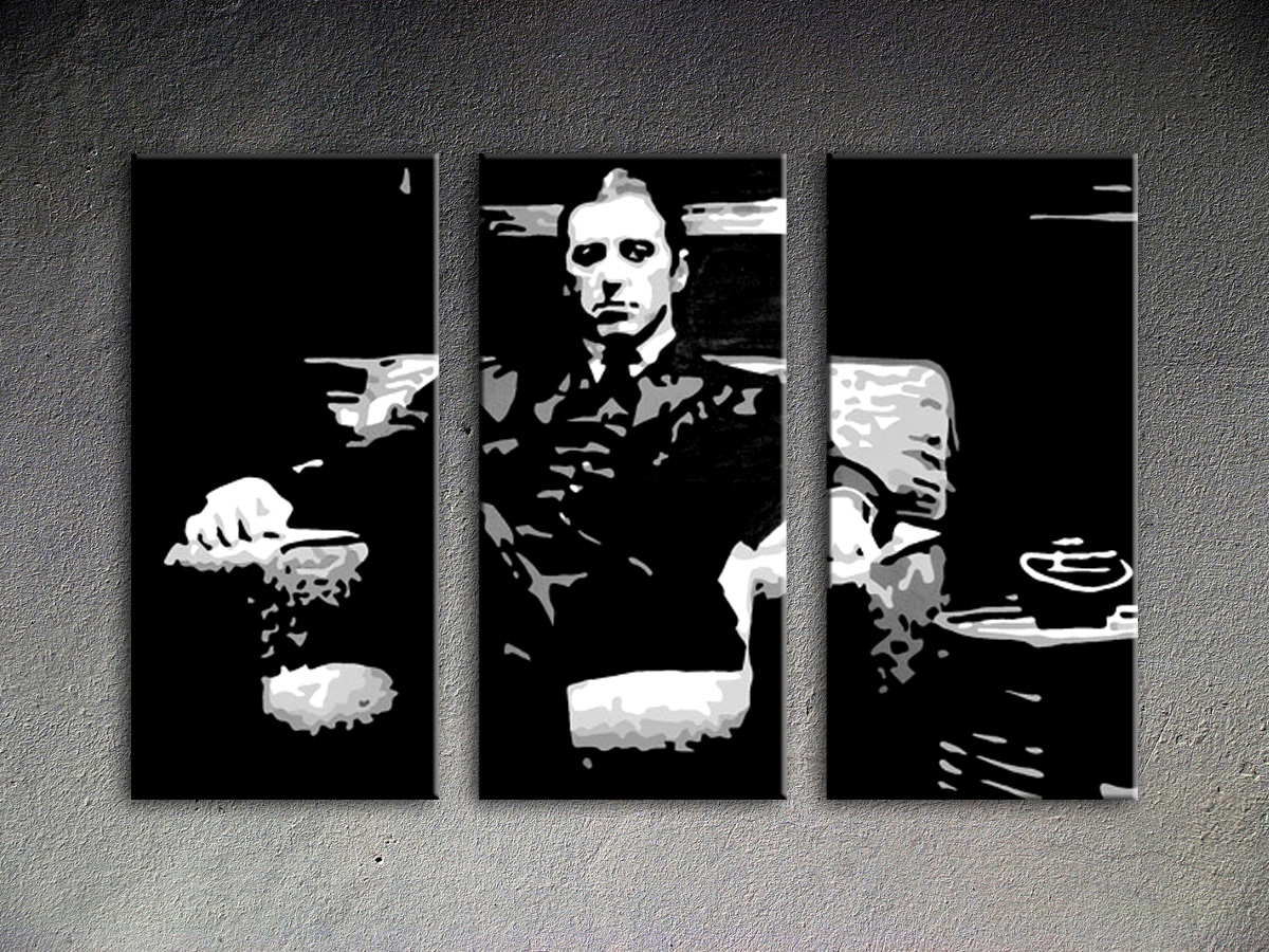 Popart schilderij Godfather 3 delig 6