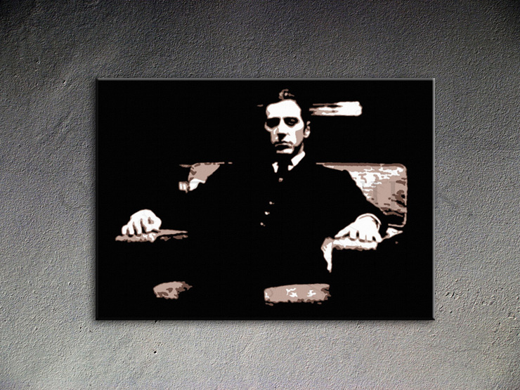 Popart schilderij Godfather