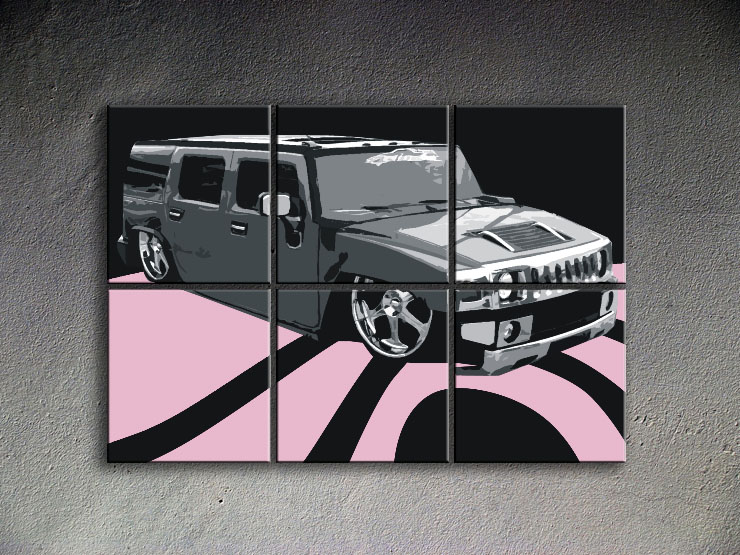 Popart schilderij Hummer