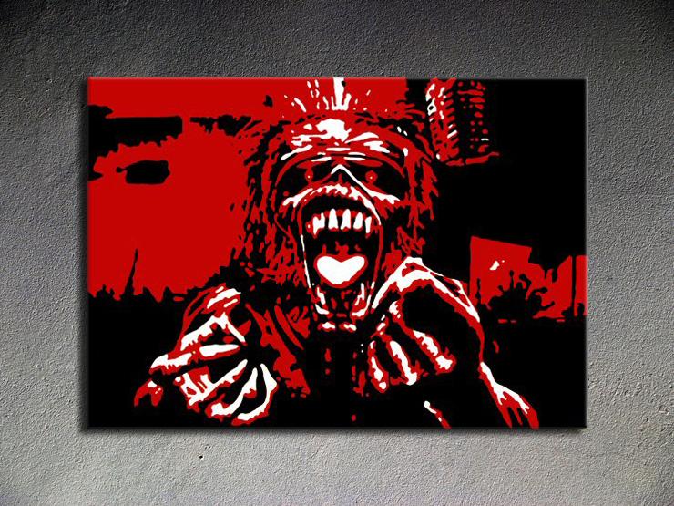 Popart schilderij Iron Maiden