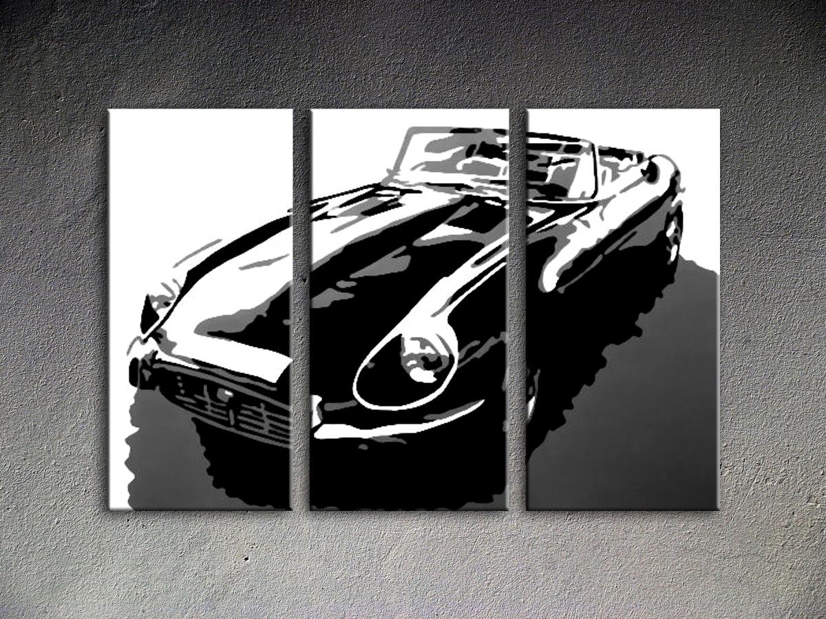 Popart schilderij Jaguar