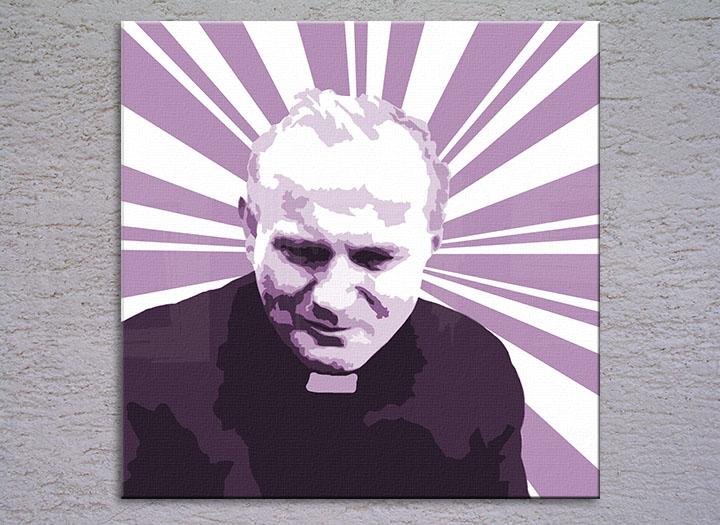 Popart schilderij Pope John Paul II. 2