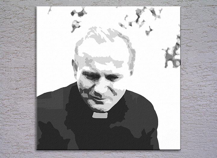 Popart schilderij Pope John Paul II. 1