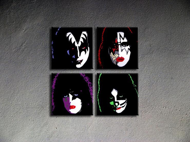 Popart schilderij Kiss