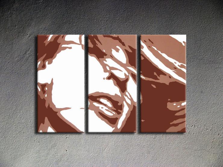 Popart schilderij Kylie Minogue 3 delig
