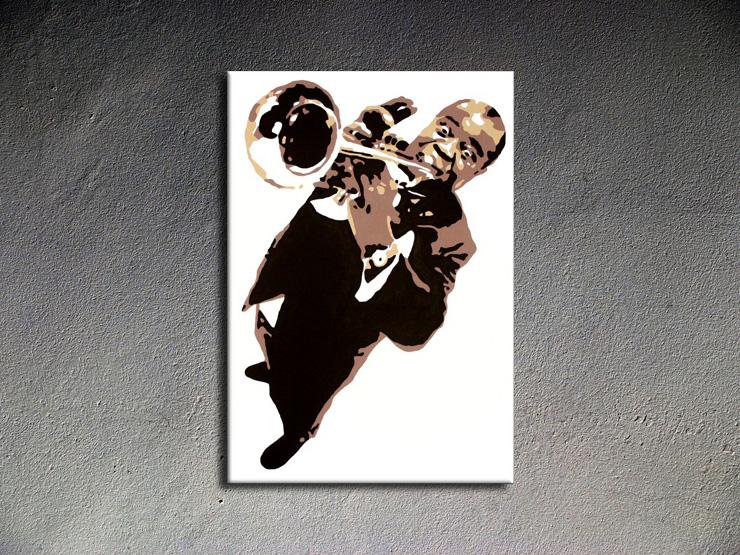 Popart schilderij Luis Armstrong