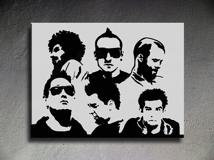 Popart schilderij Linkin Park 1