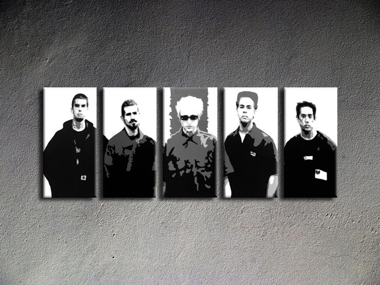 Popart schilderij Linkin Park 5 delig