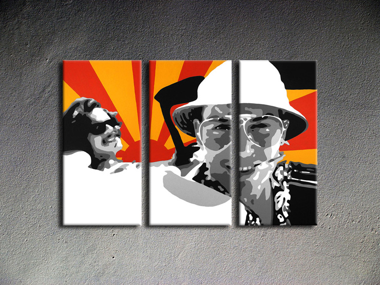 Popart schilderij Fear and Loathing in Las Vegas 2