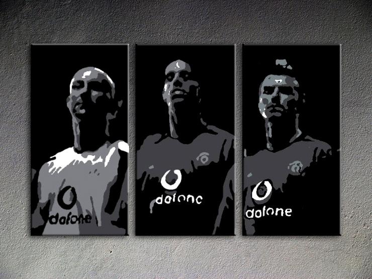 Popart schilderij Manchester United 3 delig