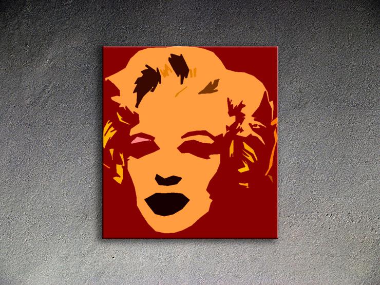 Popart schilderij Marilyn Monroe