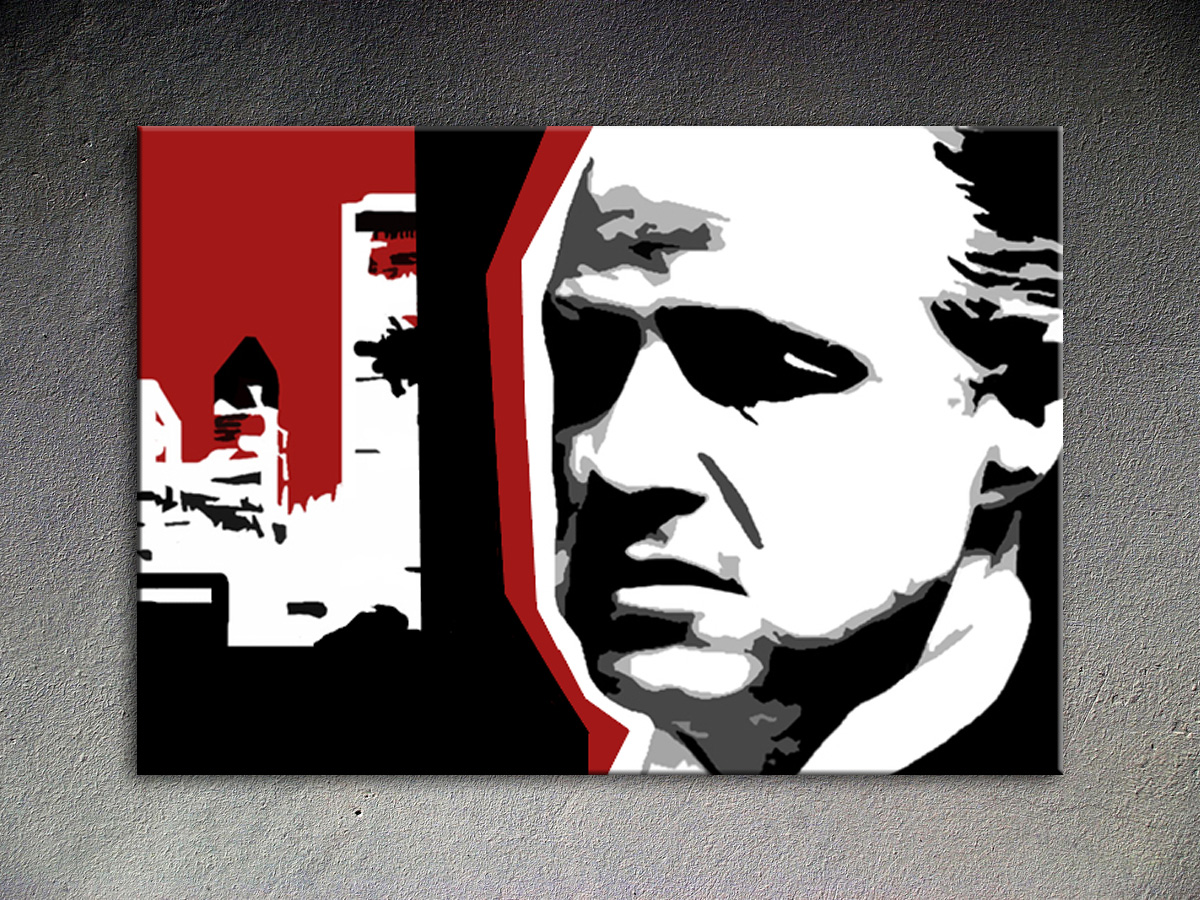 Popart schilderij Marlon Brando 2