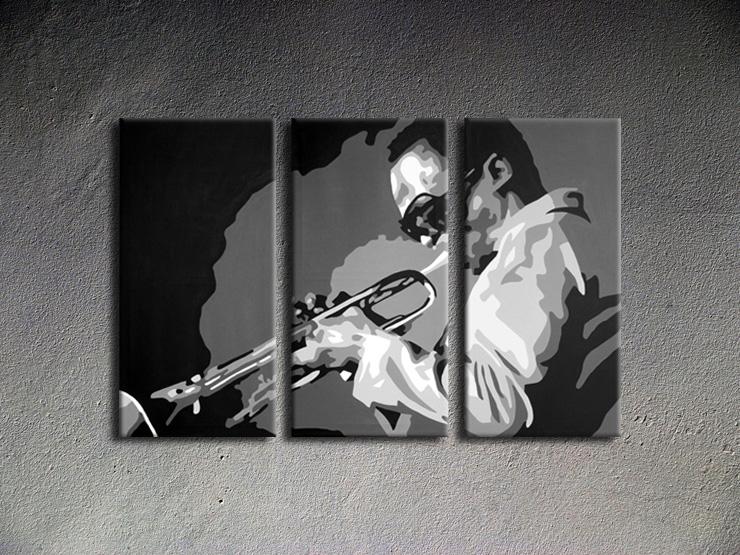 Popart schilderij Miles Davis