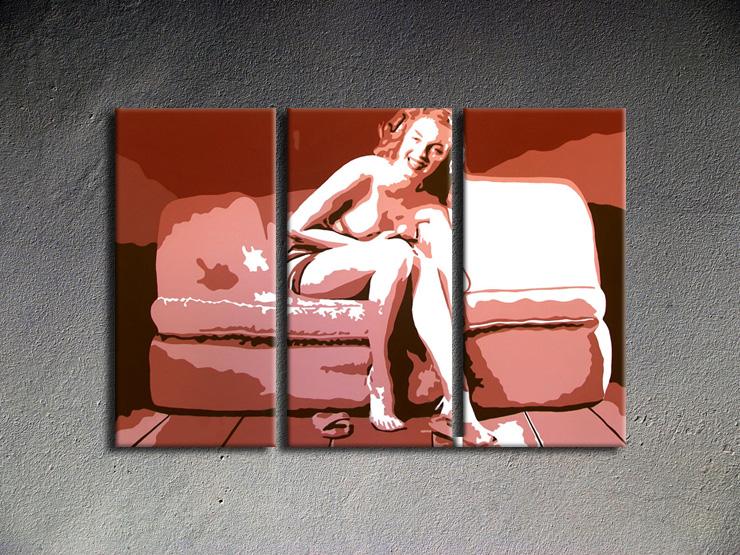 Popart schilderij Marilyn Monroe 3 delig 2