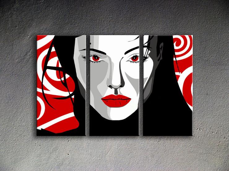 Popart schilderij Nice Woman