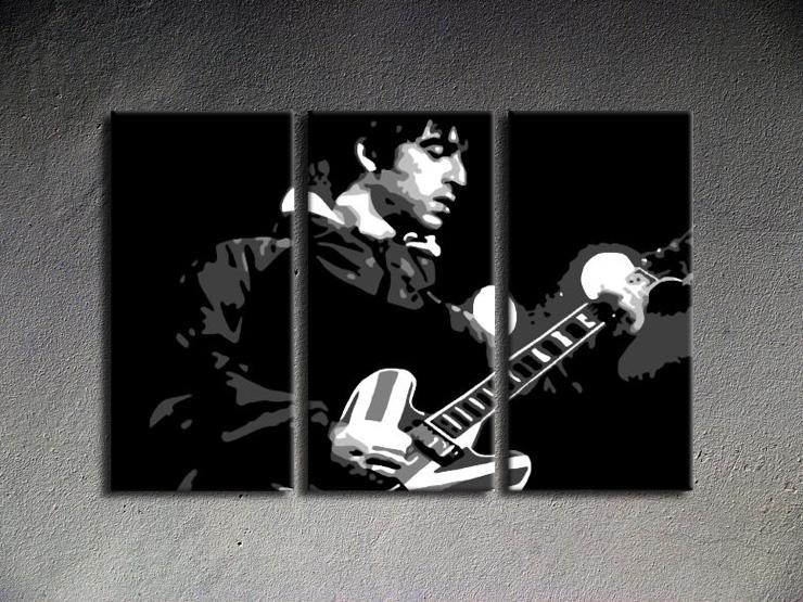 Popart schilderij Oasis 3 delig