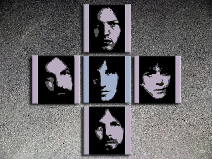 Popart schilderij Pink Floyd 5 delig
