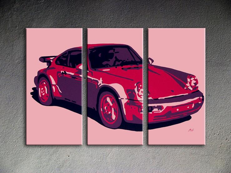 Popart schilderij Porsche 911 3