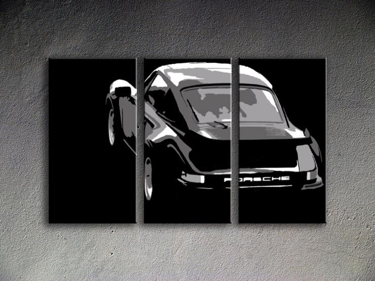 Popart schilderij Porsche 911 4