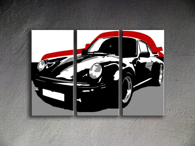 Popart schilderij Porsche 911 5