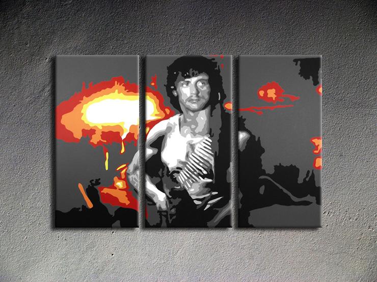 Popart schilderij Rambo