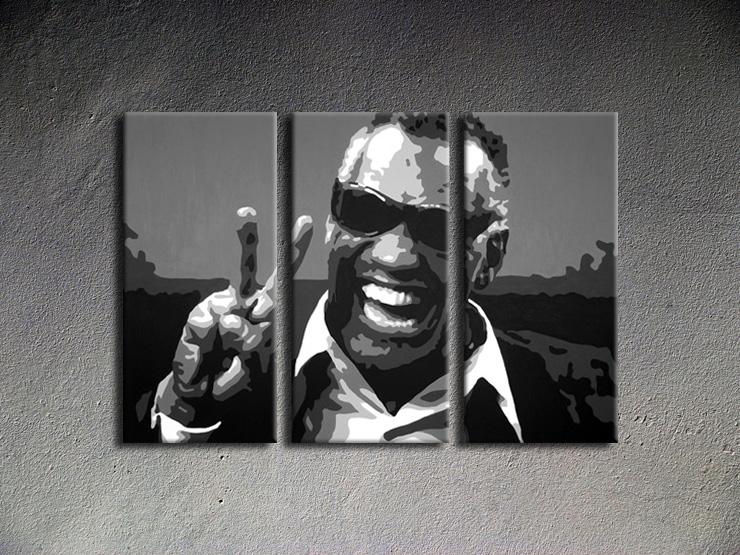 Popart schilderij Ray Charles
